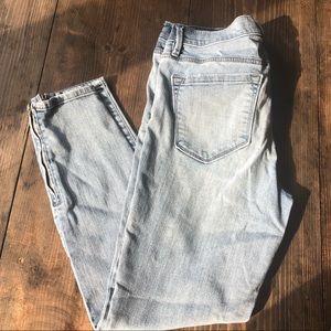 Loft Modern Skinny Ankle Jeans 6 28 Zipper Zip